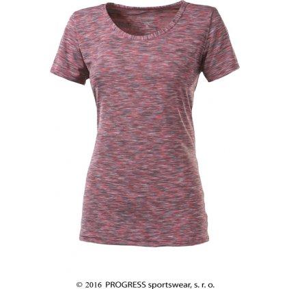 Dámské funkční triko PROGRESS Melissa růžový melír