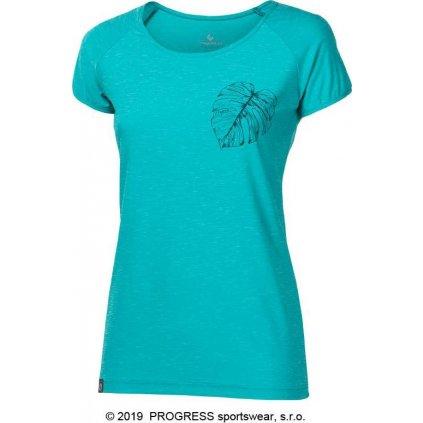 Dámské sportovní triko PROGRESS Pacifica sv.zelený melír