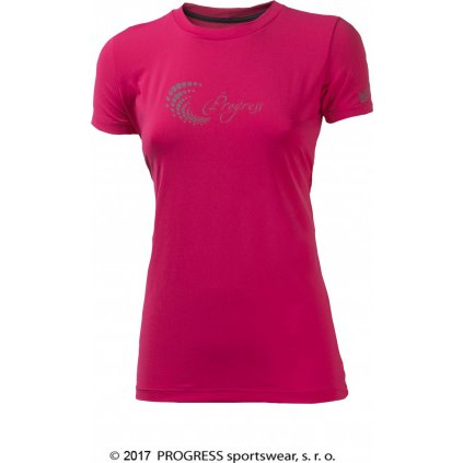 Dámské sportovní tričko PROGRESS Pantera růžová