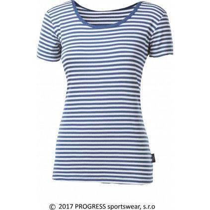 Dámské funkční tričko PROGRESS Mls Nkrz modrá/bílá