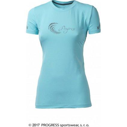 Dámské sportovní tričko PROGRESS Pantera sv.modrá