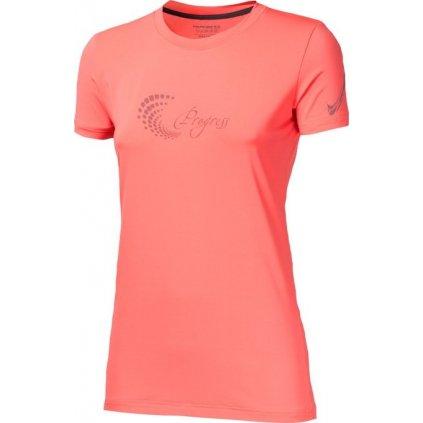 Dámské sportovní tričko PROGRESS Pantera lososová