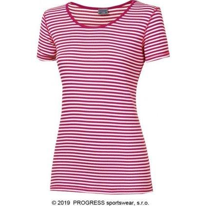 Dámské funkční tričko PROGRESS Mls Nkrz červená/bílá