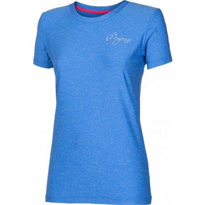 Dámské sportovní tričko PROGRESS Primitiva modrý melír