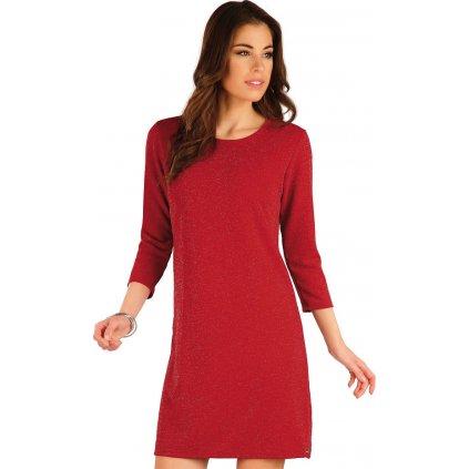 Dámské šaty LITEX s 3/4 rukávem červené