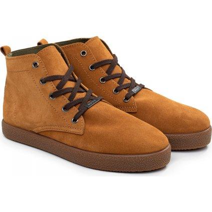 Unisex kožené boty WOOX Omnis Fuscus