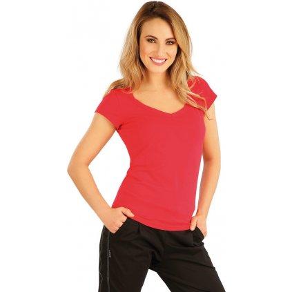 Dámské tričko LITEX s krátkým rukávem červené