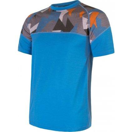 Pánské termo tričko SENSOR Merino Impress modrá/camo