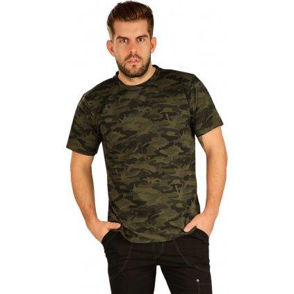 Pánské tričko LITEX s krátkým rukávem zelené