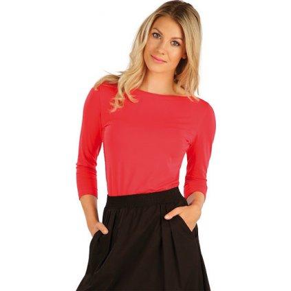 Dámské tričko LITEX s 3/4 rukávem růžové