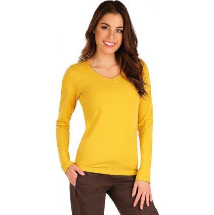 Dámské tričko LITEX s dlouhým rukávem žluté