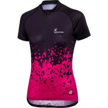 Dámský cyklistický dres KLIMATEX Zia černá/růžová