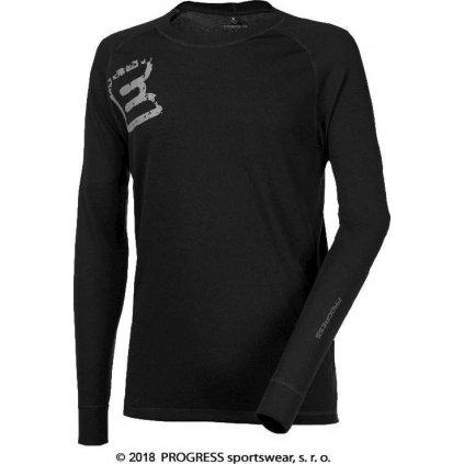 Pánské termo tričko PROGRESS Df Ndrt Print černá