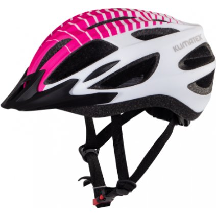 Cyklistická helma KLIMATEX Feres fuchsiová/bílá