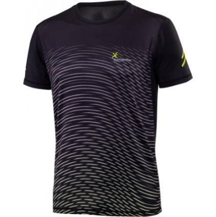 Pánské běžecké triko KLIMATEX Monkut černá
