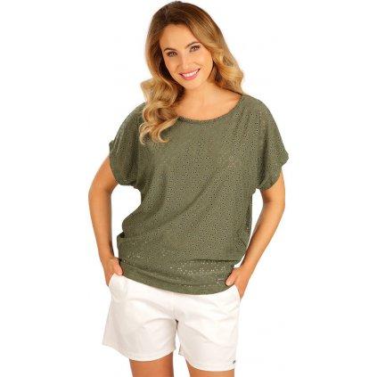 Dámské tričko LITEX s krátkým rukávem zelené