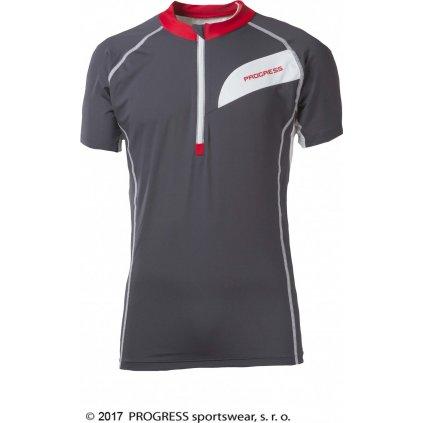 Pánský cyklistický dres PROGRESS Orion šedá/bílá