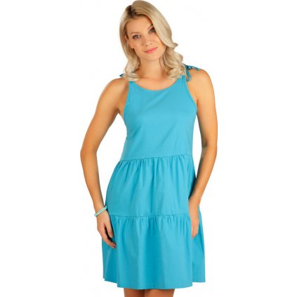 Dámské šaty LITEX na ramínka tyrkysové
