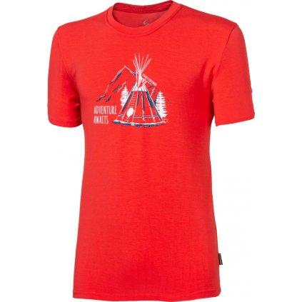 Pánské bambusové triko PROGRESS Pioneer Teepee červená