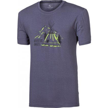 Pánské bambusové triko PROGRESS Pioneer Teepee šedá