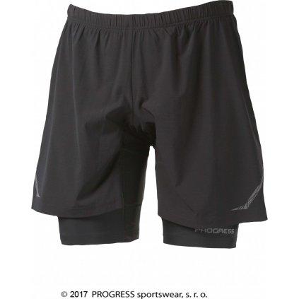 Pánské běžecké šortky PROGRESS Runner černá