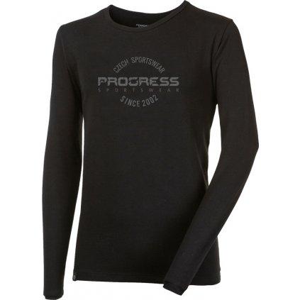 Pánské bambusové triko PROGRESS Vandal Stamp černá