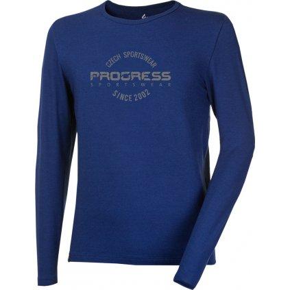 Pánské bambusové triko PROGRESS Vandal Stamp tm.modrá