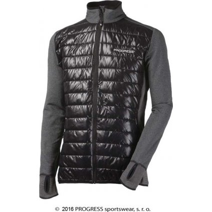 Pánská hybridní bunda PROGRESS Tux černý melír/černá