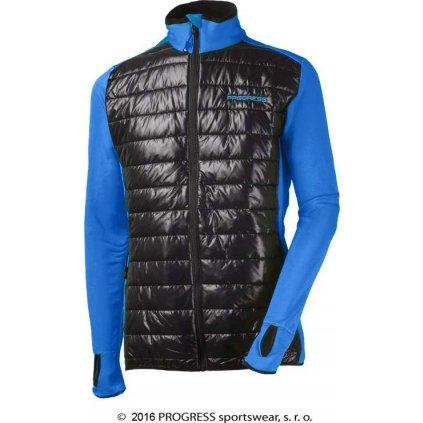 Pánská hybridní bunda PROGRESS Tux modrá/černá