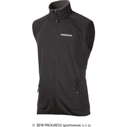 Pánská sportovní vesta PROGRESS Tartar černá