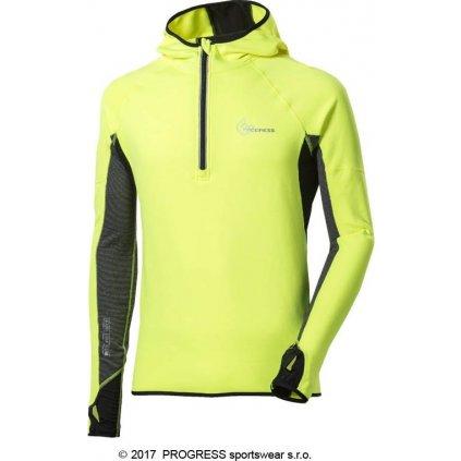 Pánská běžecká mikina PROGRESS Victor Hi-Viz reflexní žlutá/černá