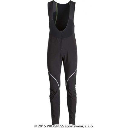 Pánské zimní elastické kalhoty PROGRESS Primer Bib černá 2017