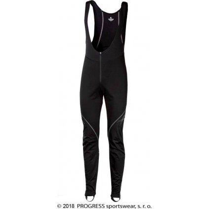 Pánské zimní elastické kalhoty PROGRESS Primer Bib černá/šedá