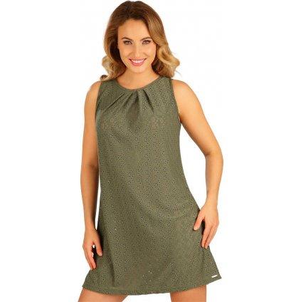 Dámské šaty LITEX bez rukávu zelené