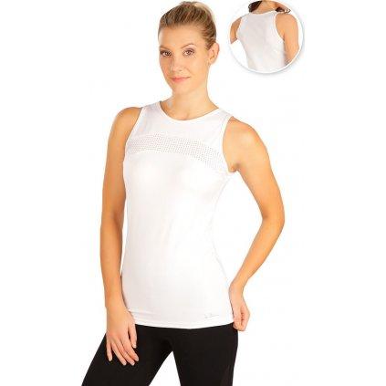 Dámské funkční tričko LITEX bez rukávů bílé