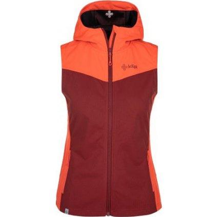 Dámská softshellová vesta KILPI Cortina-w tmavě červená