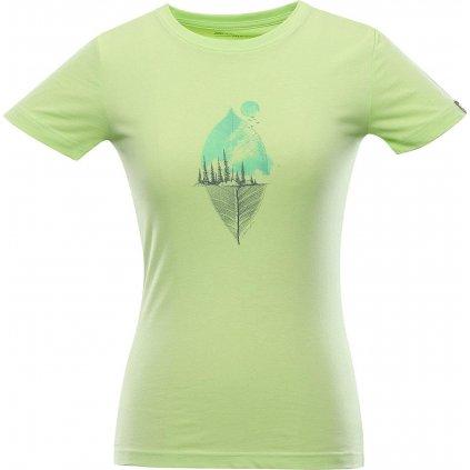 Dámské triko ALPINE PRO Ekosa zelené