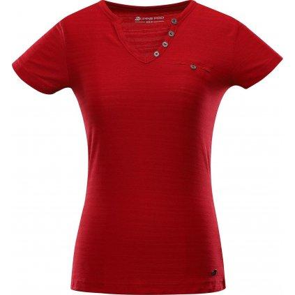 Dámské triko ALPINE PRO Ropera 4 červené