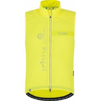 Pánská cyklistická vesta KILPI Flow-m světle zelená