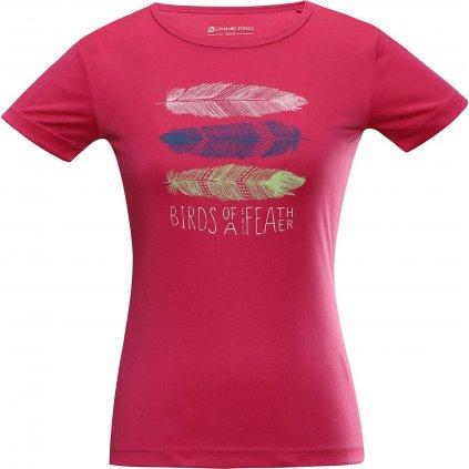 Dámské triko ALPINE PRO Quarto 6 růžové