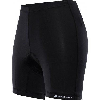 Dámské cyklistické kraťasy ALPINE PRO Cycla černé