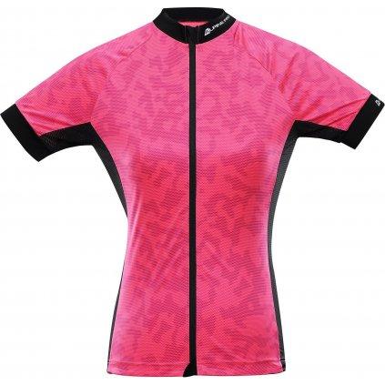 Dámské cyklistické triko ALPINE PRO Marka 2 růžové