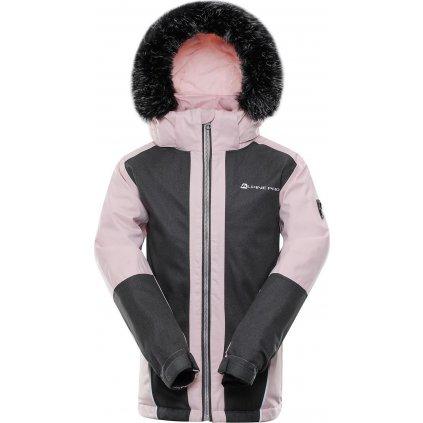 Dětská zimní bunda ALPINE PRO Doro růžová