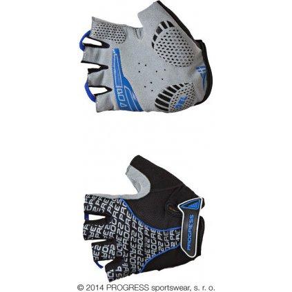 Cyklistické rukavice PROGRESS Pull Mitts černá/modrá