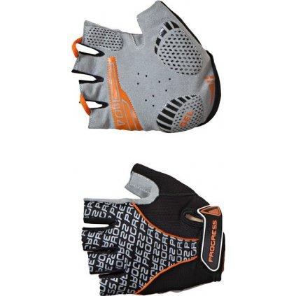 Cyklistické rukavice PROGRESS Pull Mitts černá/oranžová