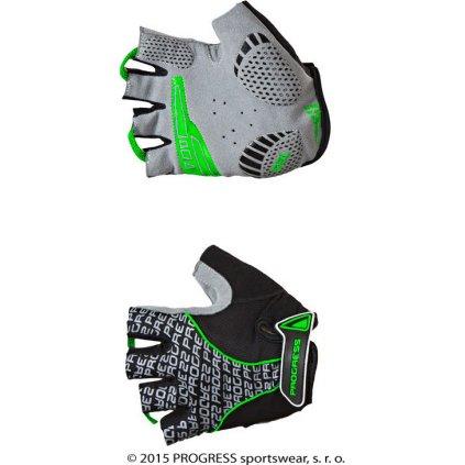 Cyklistické rukavice PROGRESS Pull Mitts černá/zelená