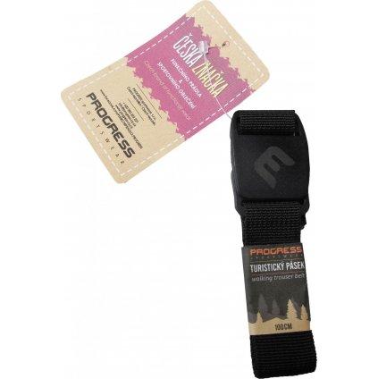 Opasek s plastovou přezkou PROGRESS Click Belt černá