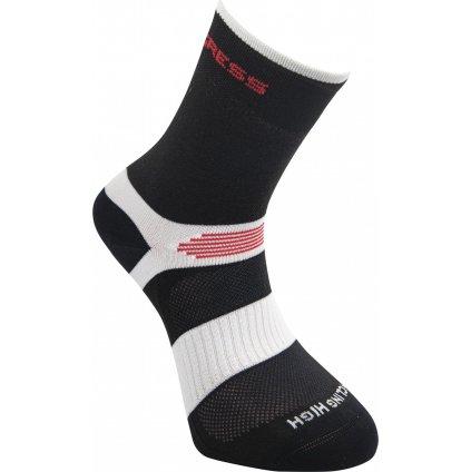 Cyklistické ponožky PROGRESS Cycling High Sox černá/bílá