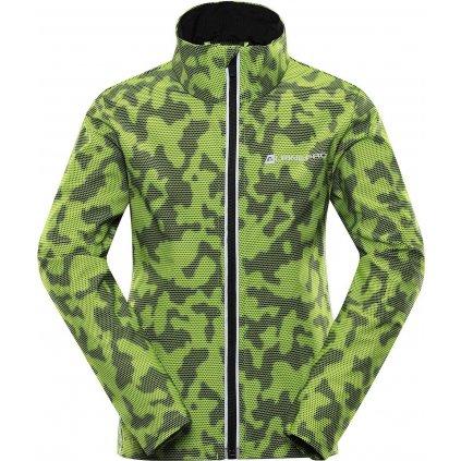 Dětská softshellová bunda ALPINE PRO Technico 3 zelená