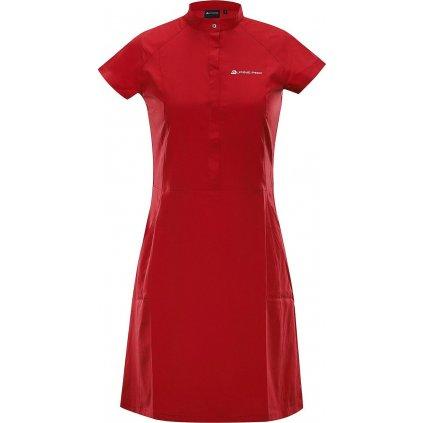 Dámské šaty ALPINE PRO Vakia 4 červené